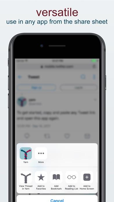 Yarn – Better Twitter Threads App Report on Mobile Action - App