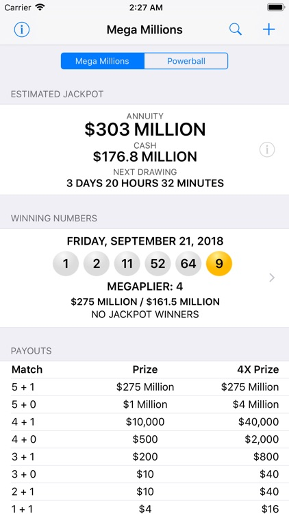 Mega Millions & Powerball screenshot-0