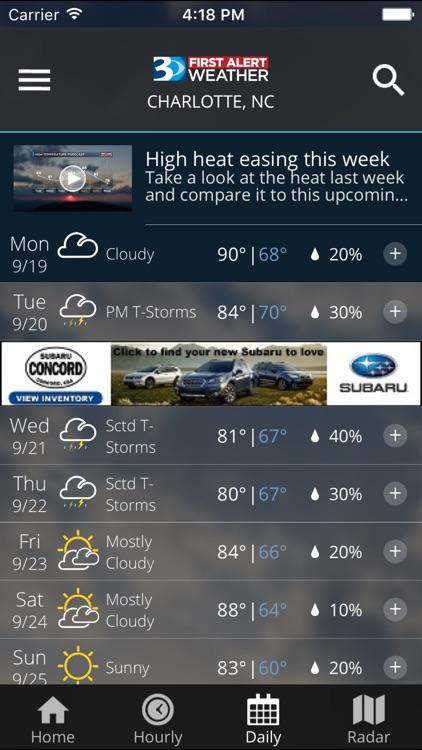 WBTV First Alert Weather screenshot-4