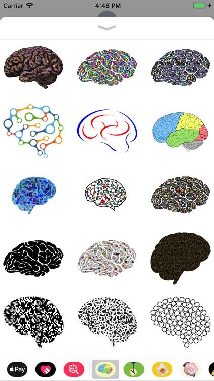 Human Brain Sticker Pack