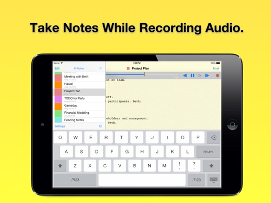 Audio Note Book Free: Voice Recorder and Text Memos screenshot