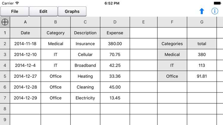 Free Spreadsheet