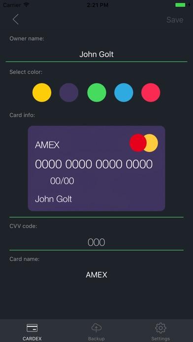 screenshot 6 for cardex pro bank card holder - Card Holder App