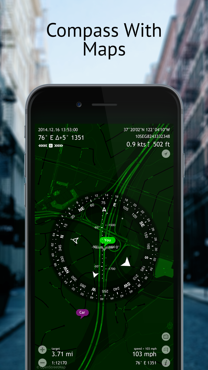 Commander Compass Go Screenshot