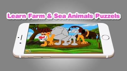 Learn Farm Sea Animals Puzzles screenshot two