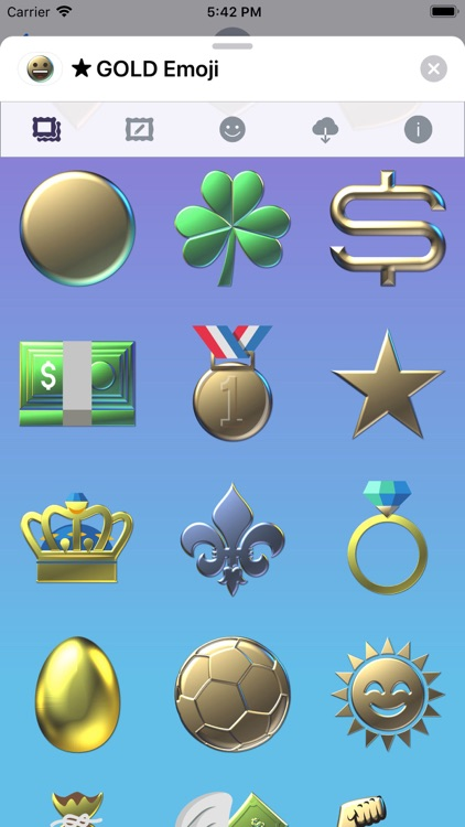 GOLD Emoji • Stickers screenshot-9