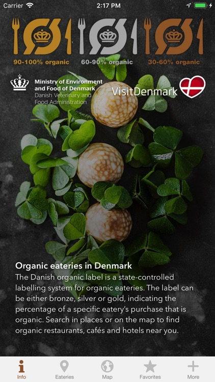 Organic eateries in Denmark