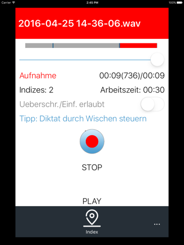 Findentity Mobile Dictate - náhled