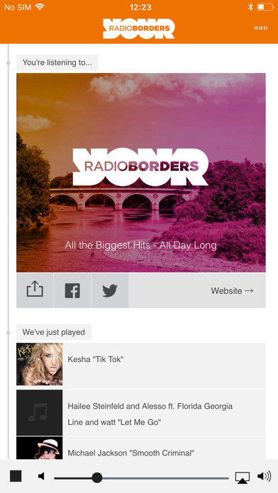 Radio Borders screenshot one
