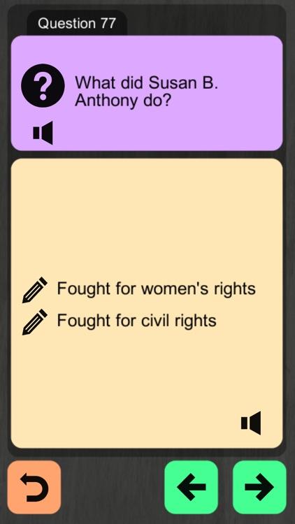 US Citizenship Test 2019 Audio screenshot-4