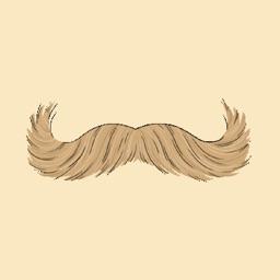 Stache Talk Mustache Animated