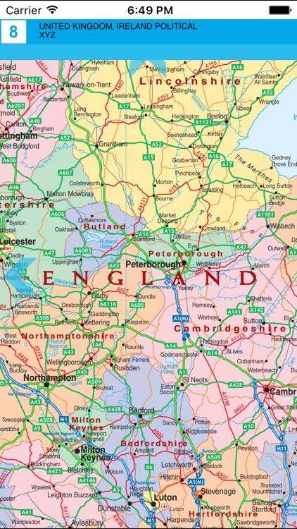 United Kingdom and Ireland. Political map. screenshot-3