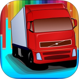 Cute Car Trucks Coloring Book Game