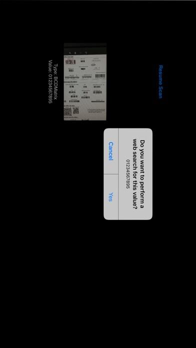 Accusoft Barcode Scanner Screenshot on iOS