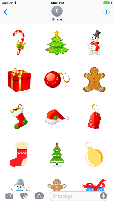 Animated Christmas Stickers Pack