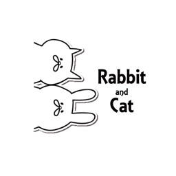 A rabbit and cat