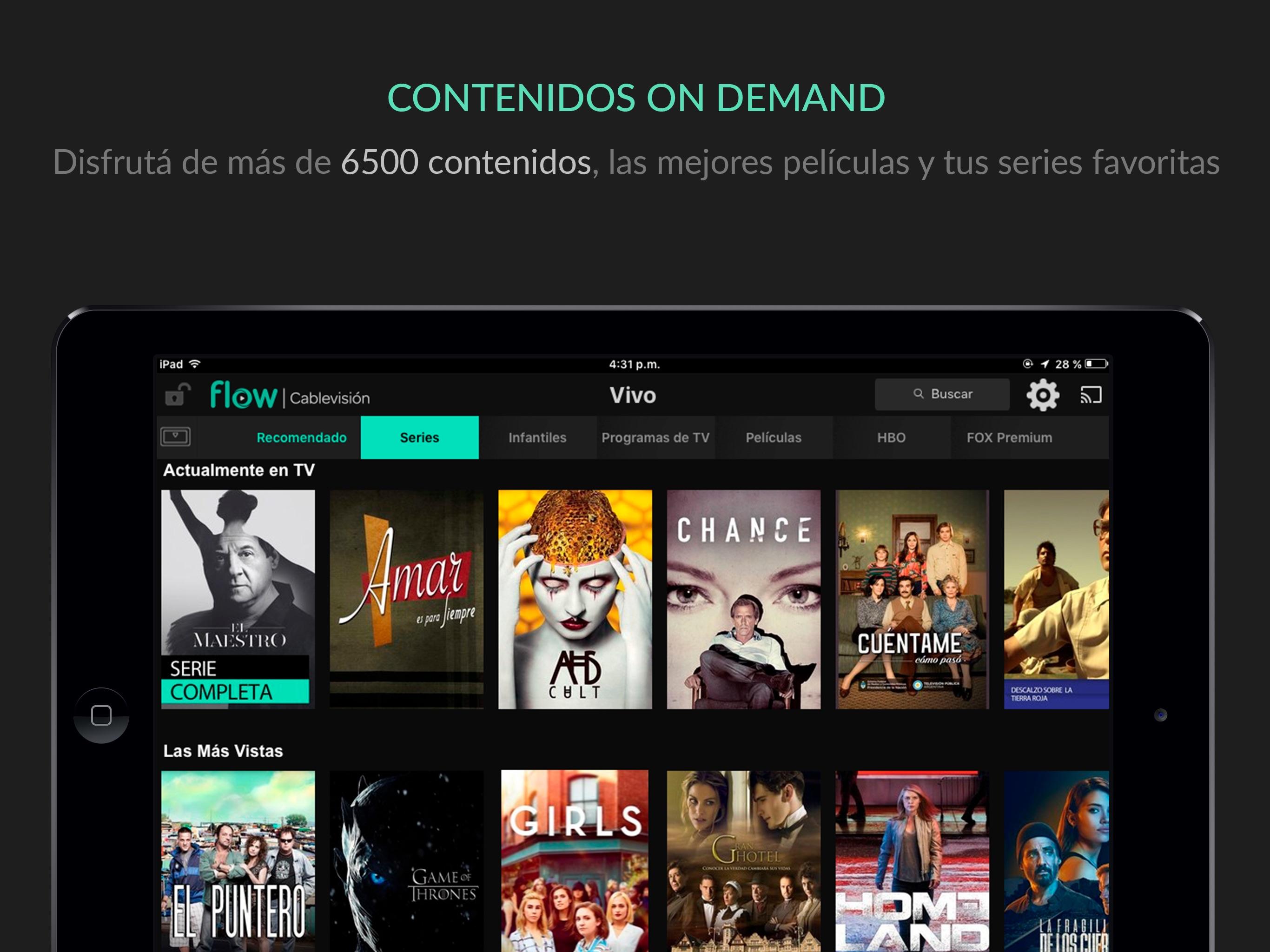 Cablevisión Flow para iPad Screenshot
