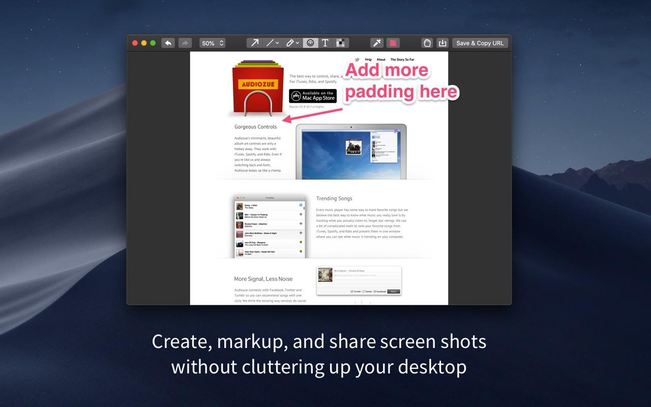 Screenshot do app Droplr