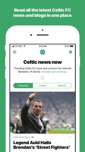 Celtic news now on the App Store
