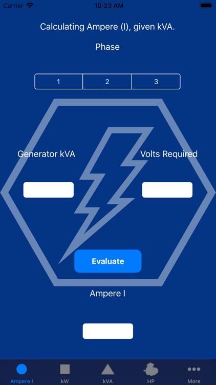 Electrical Calculator Mobile