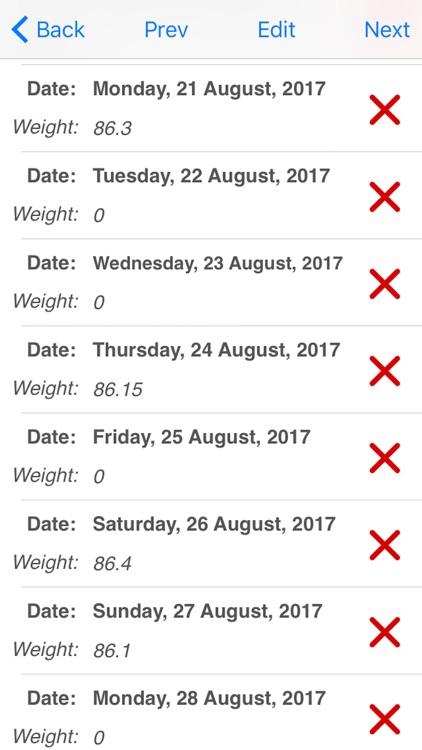 Weight Monitor screenshot-4