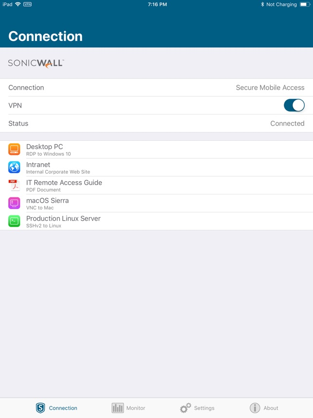 SonicWall Mobile Connect im App Store
