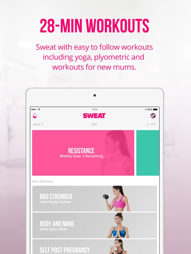 Sweat kayla itsines fitness on the app store fandeluxe Image collections