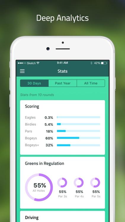 Golf GPS: scorecard range find screenshot-4