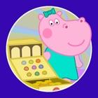 Funny Shop: Hippo shopping icon