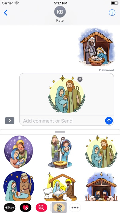 Cozy Nativity Scene Stickers-1