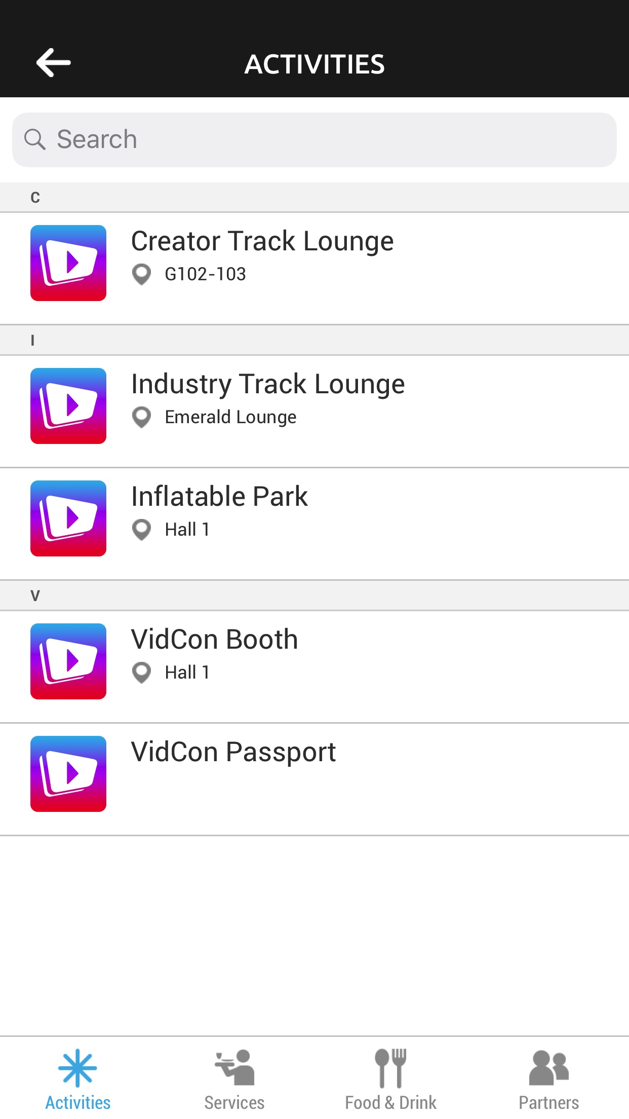 VidCon 2018 Screenshot