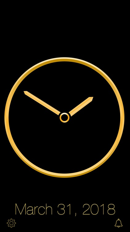 Gold Luxury Clock