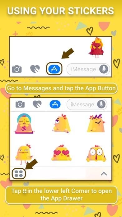 Chicken Emoji Animated Sticker screenshot one