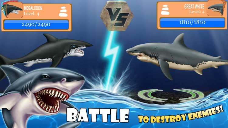 SHARK WORLD -water battle game screenshot-1