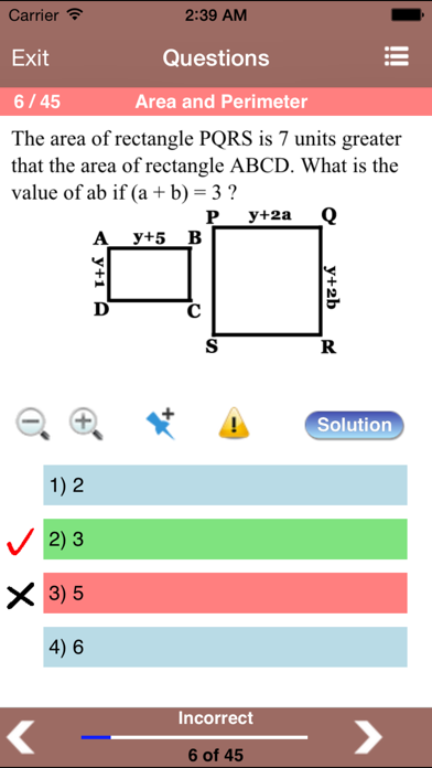 Geometry for the ACT ® Test Screenshots