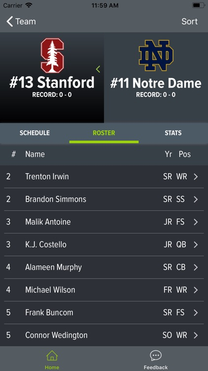 Notre Dame Football screenshot-3
