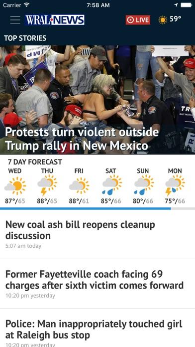 Wral News Mobile review screenshots