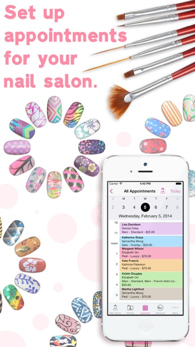 eNails - Nail salon appointment schedule calender screenshot one