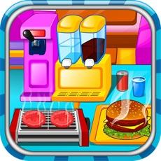Activities of Burger Maker Chef Cooking