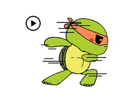 Let's dance with this cute and funny green turtle