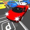 市の駐車場のマスター3D