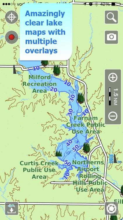 Aqua Map Kansas Lakes GPS
