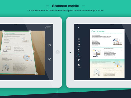 CamScanner HD iPad captures décran