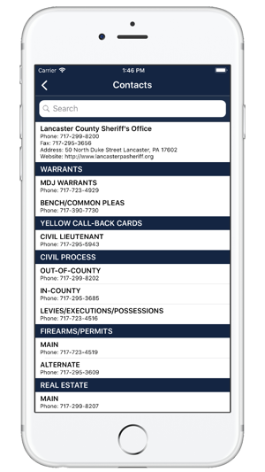 Lancaster County (PA) Sheriff on the App Store