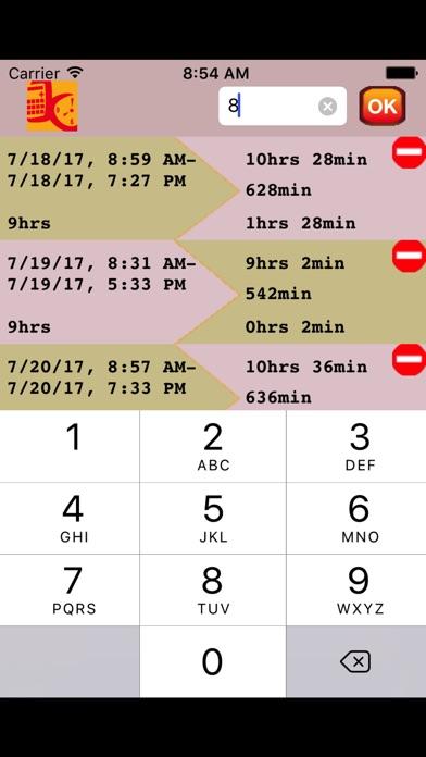 calcbetwixt calculate overtime undertime iphoneアプリ applion