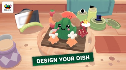 Screenshot of Toca Kitchen Sushi App