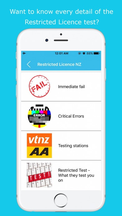 Screenshot for Restricted Licence NZ in New Zealand App Store