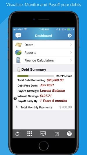 debt free pay off your debt en app store