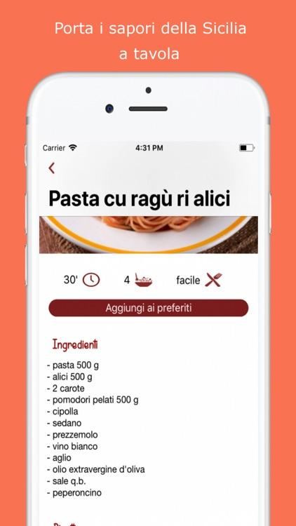 Ricette Sicilia screenshot-4