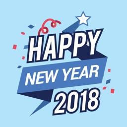 Happy New Year 2018 - stickers